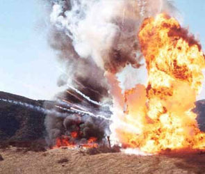 На полигоне под Рязанью взорвались два КАМАЗа с боеприпасами