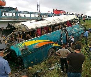 Крушение автобуса в Ставропольском крае