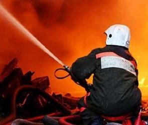 Пожар в центре столицы