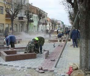 В Воронежской области злоумышленники украли тротуарную плитку
