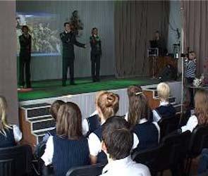 Воронежскую школу посетили бойцы отряда особого назначения