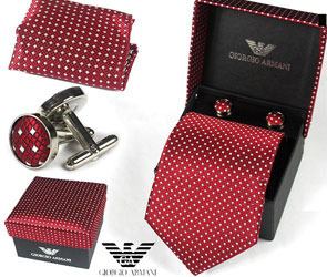 Джентльменский набор (галстук и запонки)