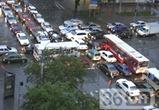 Пробки и аварии в Воронеже в понедельник 23 апреля
