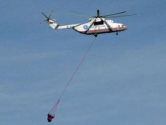 МЧС будет эвакуировать автомобили на вертолетах