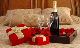 Любовный декор спальни