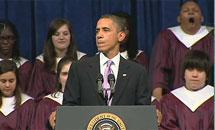 Американский выпускник заснул во время встречи с Бараком Обамой