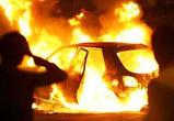 На северном мосту в Воронеже горит автомобиль
