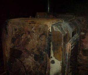 На реке Усманка подожгли земельный снаряд