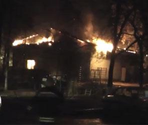 ВИДЕО - Пожар на трансформаторной подстанции на Моисеева