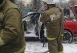 В Новой Усмани сгорела иномарка