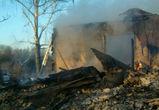 В Нижнедевицком районе сгорел жилой дом