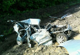 В Воронежской области  ВАЗ-2110 раздавили две фуры: водитель погиб