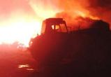 Пожар под Воронежем уничтожил 200 тонн сена