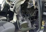 В Воронеже на улице Хользунова по неизвестной причине сгорела иномарка