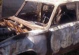 В Воронеже дотла сгорел автомобиль, причины выясняются