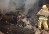 В Воронежской области сгорел Volkswagen Jetta