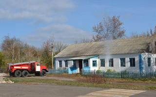 Учения МЧС: добровольная пожарная охрана