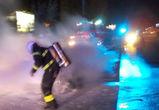 В центре Воронежа по неизвестным причинам сгорел Range Rover