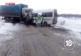 СМИ: 11 человек погибли в столкновении КАМАЗа и автобуса из Луганска