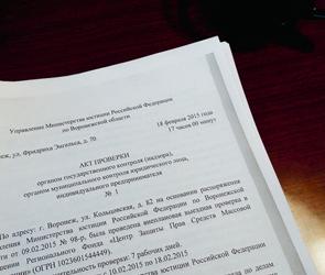 Воронежские чиновники осудили решение Минюста по Центру защиты прав СМИ