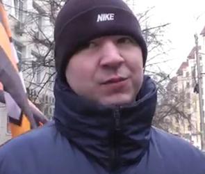 ЭКСКЛЮЗИВНОЕ ВИДЕО: пикет у здания воронежского Минюста РФ