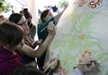 Роспись гигантского пасхального яйца в «Граде»