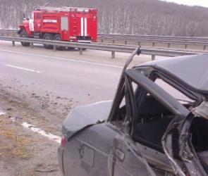 На трассе Воронеж-Тамбов столкнулись грузовик и Daewoo: один человек погиб