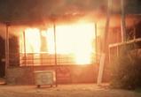 Ночью в Воронеже сгорел пост ДПС на Московском проспекте (ФОТО)