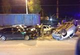 В Воронеже на улице Лебедева столкнулись пять машин: четверо пострадавших (ФОТО)
