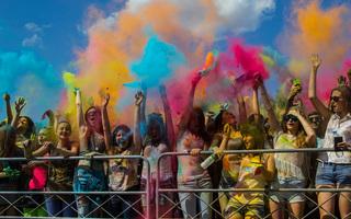 Фестиваль красок в Воронеже