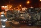 На трассе в Воронежской области перевернулась и загорелась иномарка