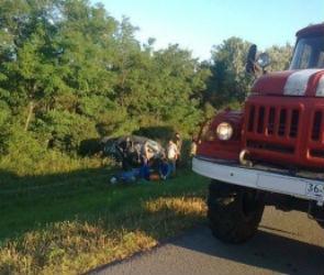 Под Воронежем Daewoo Matiz вылетел в кювет: водителя спасти не удалось