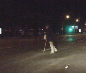 В Воронеже сотрудники ППС ночью помогли перейти дорогу инвалиду