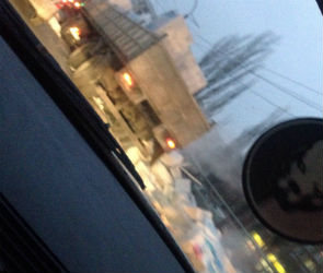 На Остужевском кольце фура рассыпала бетонные блоки (ФОТО)