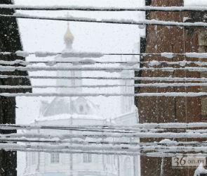 Из-за снегопада жители пяти районов Воронежской области остались без света