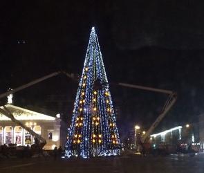 Праздничные елки в районах Воронежа откроются с 25 декабря