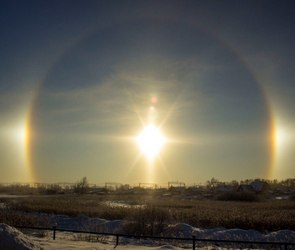 «Три солнца» над Воронежем (ФОТО)
