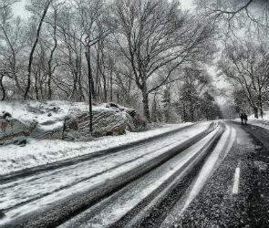 В выходные воронежцев ждут снег, мороз и гололед