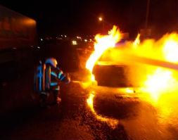 На бульваре Победы рано утром сгорел автомобиль