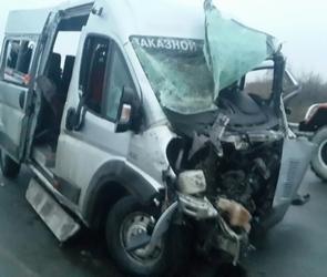 Появилось видео с места ДТП с тремя погибшими в Воронежской области