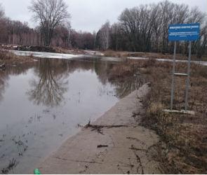 В Воронежской области разлившиеся реки подтопили мосты в двух районах (ФОТО)