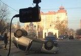 В Воронеже на Ленинском проспекте перевернулась «десятка»