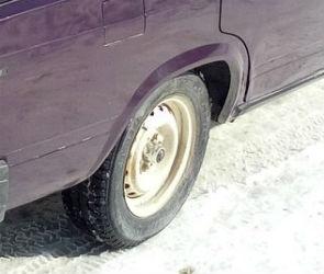 Двое молодых людей попались полицейским, когда снимали у машины колёса