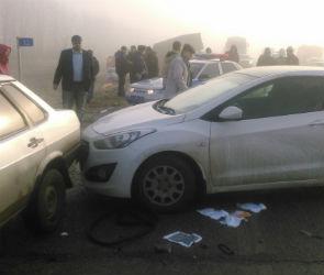 Массовое ДТП произошло на трассе под Воронежем из-за сильного тумана (ФОТО)