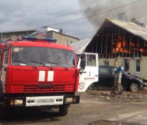 В Ленинском районе Воронежа загорелся частный дом  (ФОТО)