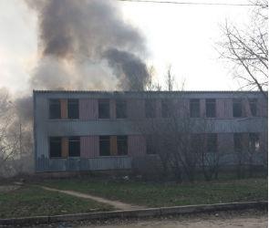 В воронежском микрорайоне Шилово загорелся заброшенный дом (ФОТО)