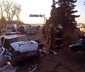 Опубликовано видео аварии с экипажем ДПС и четырьмя погибшими в Воронеже