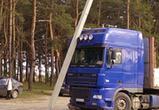 В Воронеже грузовик без водителя проехал 150 метров и снес столб (ФОТО)