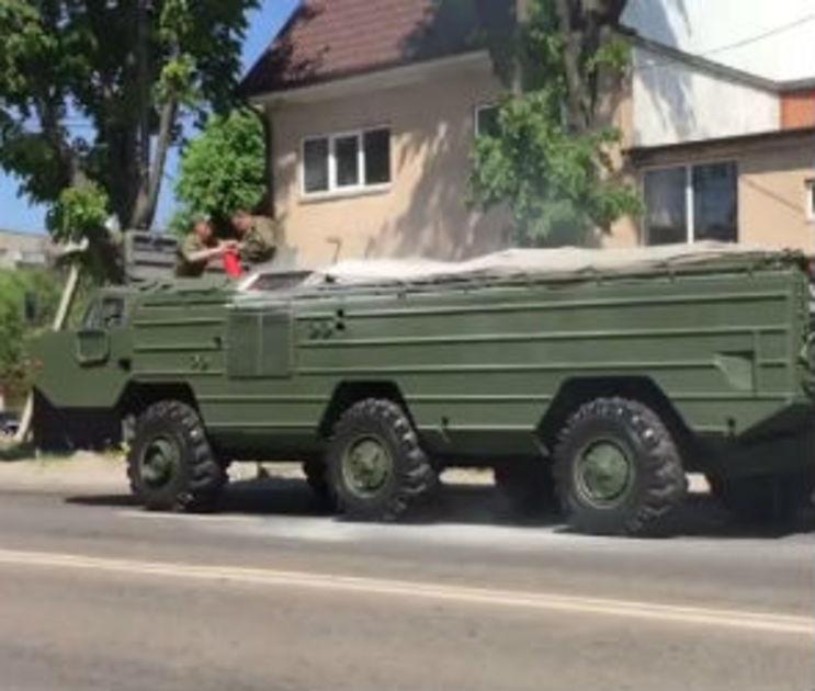 Минобороны объяснило инцидент с загоревшейся военной машиной в Воронеже