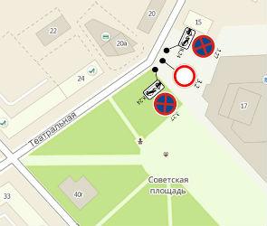 В Воронеже на Советской площади запретят парковку